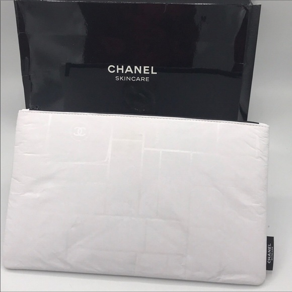 CHANEL Other - Last one Chanel Beaute  White Cosmetic Pouch Bag